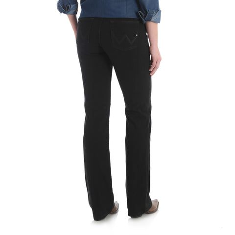 Wrangler Q-Baby Mid-Rise Black Stretch Jean - WRQ20BL