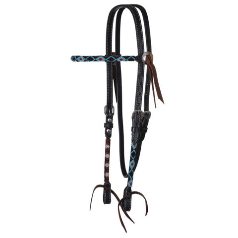 Circle Y Infinity Wrap Black Diamond Headstall