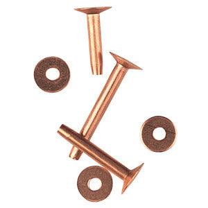 "Copper Rivets and Burrs (#9), 1/2"" 77-3024"