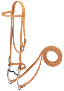 Harness Leather Browband Bridle with Single Cheek Buckle 20-0348