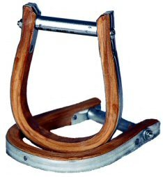 Metal/Wood Bound Bronc Stirrups by Saddle Barn - 10-46