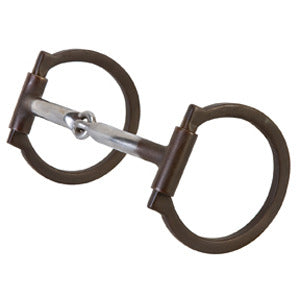 "Stacy Westfall Ring Snaffle Bit 5"" Mouth Copper Inlay 25-1737"