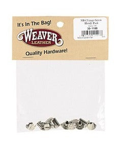 Weaver Nickel Brass Chicago Screw Handy Packs - 30-1100