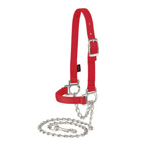 Weaver Nylon Adjustable Sheep Halter with Chain Lead - 35-8110