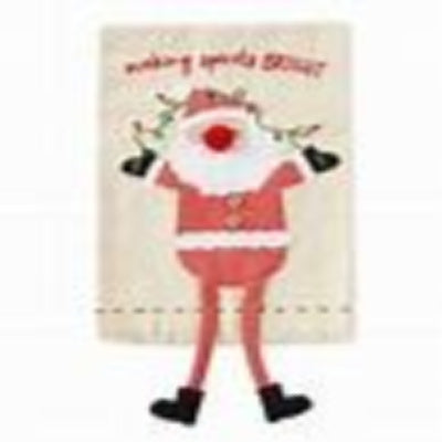 Santa Dangle Leg Tea Towel