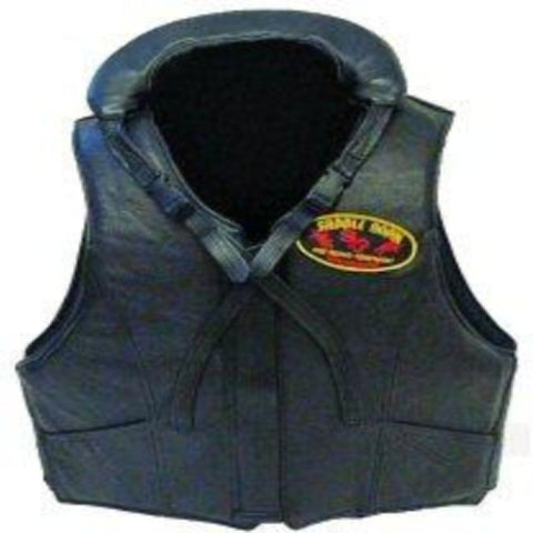 Leather Bareback Pro Rodeo Protective Vest Tall - 10-55