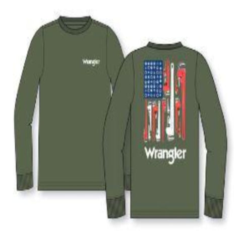 Wrangler® FR Flame Resistant Graphic Tee - FR194MG - Military Green