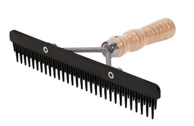 Fluffer Comb with Wood Handle and Replaceable Plastic Blade
