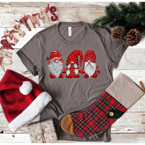 Christmas Gnomes Ladies Tee