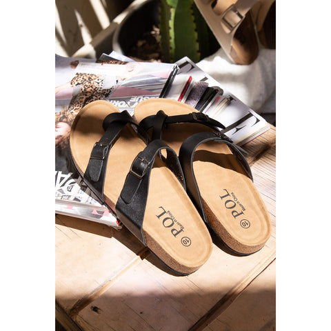 POL Thong  Sandal with Toe Loop
