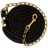 Poly Lead Rope with Brass Plated Swivel Chain