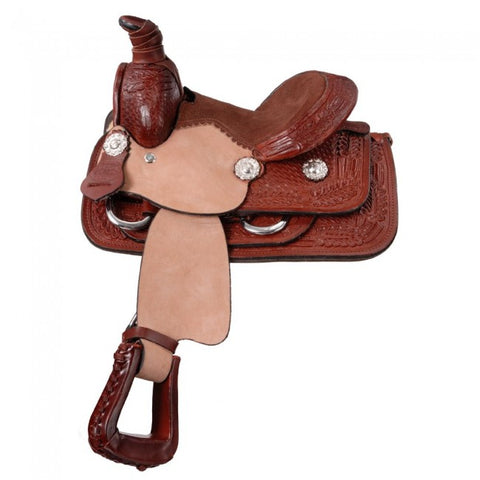 "8"" Miniature Western Roper Saddle KS608-31-8"