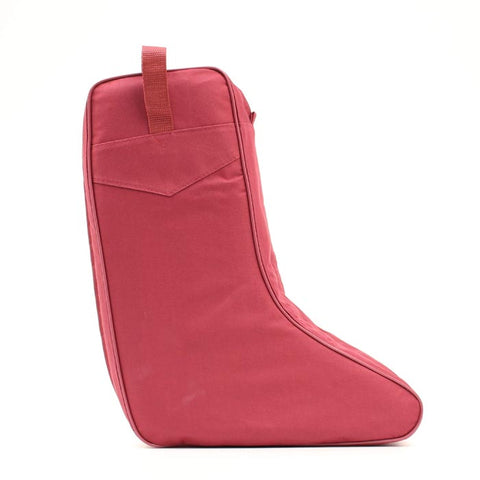 Solid Color Twin Zipper Boot Bag 04114