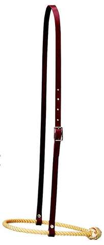 Leather Caveson with Rope Noseband