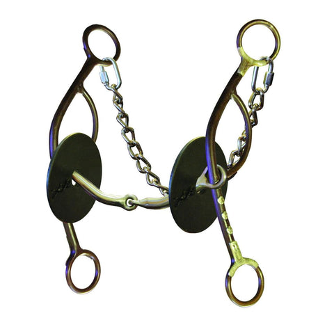 "⅜"" Josey-Mitchell Smooth Snaffle Gag Long Shank 0132-6000"