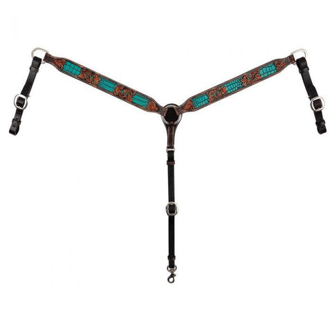 Inlay Filigree Breast Collar w/ Turquoise by Circle Y