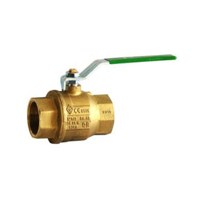 25Mm Ff Brass Ball Valve Lever Handle Watermarked Dza/Aga - PlumbersHQ