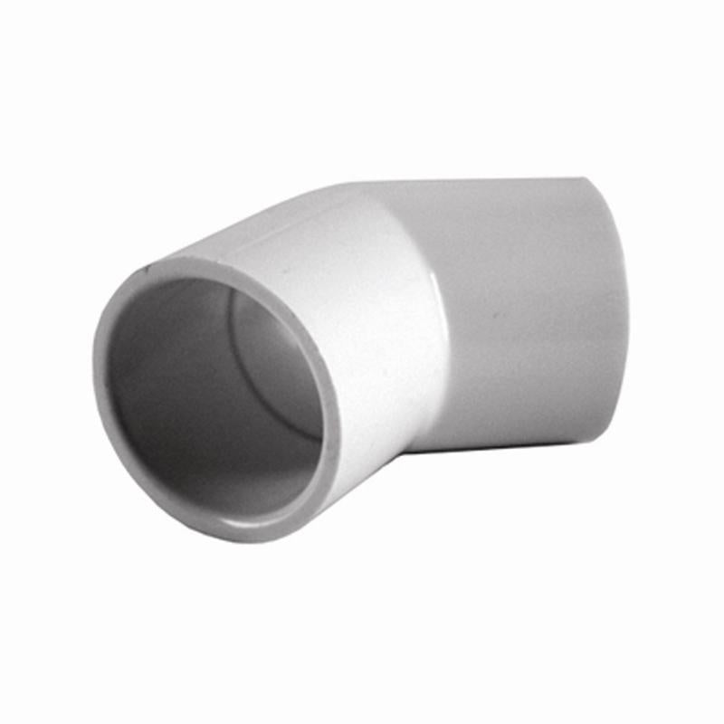 PVC Pressure Elbow 45° 40mm - PlumbersHQ