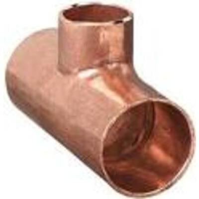 Copper Reducing Tee 80mm x 80mm x 32mm (Centre) - PlumbersHQ
