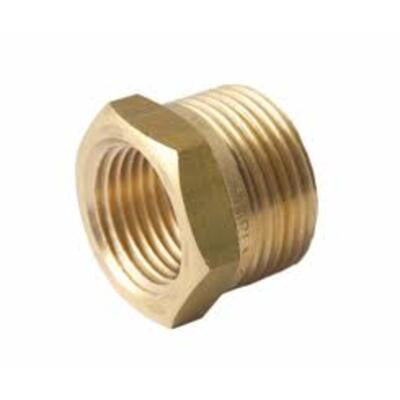 Brass Screwed Reducing Bush 50mm x 20mm - PlumbersHQ