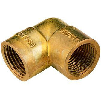 Brass Elbow FF 50mm - PlumbersHQ