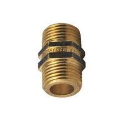 Brass Hex Nipple 10mm (3/8') - PlumbersHQ