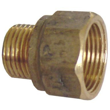 Brass MF Reducing Adaptor 12mm FI X 9mm MI - PlumbersHQ