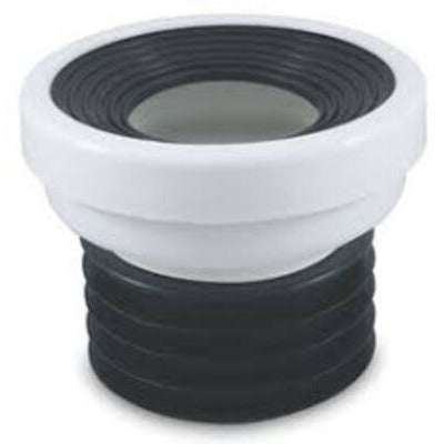 DWV Flexi Fin 100mm  Pan Collar Connector Abs Male - PlumbersHQ