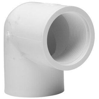 PVC Pressure Female Faucet Elbow 25mm X 20FI - PlumbersHQ