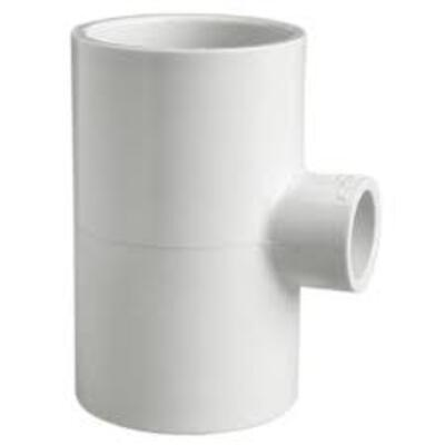 PVC Pressure Reducing Tee 50mm X 50mm X 32mm (Centre) - PlumbersHQ