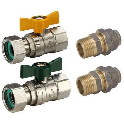 Instant Hot Water Valve Kit 20mm Loose Nut x 20mm Flared (Both Valves) - PlumbersHQ