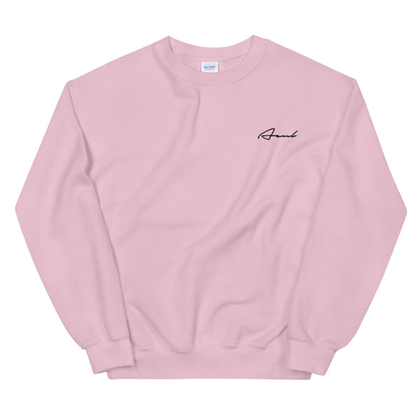 AÉNL Unisex Sweatshirt Light Pink Black