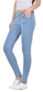 Dassler Skinny Fit Women's Light BlueDenim Jeans (Stretchable)