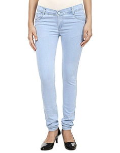 Dassler Slim-Fit Women's Light Blue Denim Jeans (Stretchable)