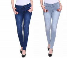 Load image into Gallery viewer, Women's Slim-Fit Stretchable Denim Jeans ( No. Of 2PCS Combo Sale )