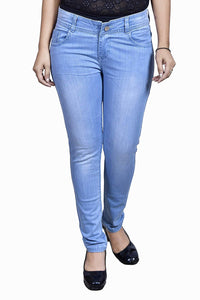 Dassler Women's Slim-FIT Blue Denim Jeans (Fully Stretchable)