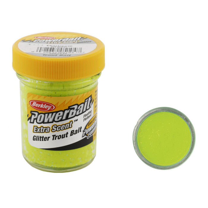 Berkley PowerBait® Glitter Trout Bait Chartreuse