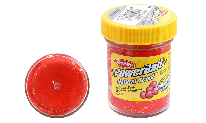 Berkley PowerBait Extra Scent Glitter Trout Bait Salmon Red with Glitte