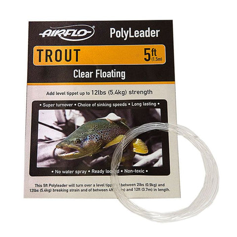 AIRFLO TROUT POLYLEADERS - 5'