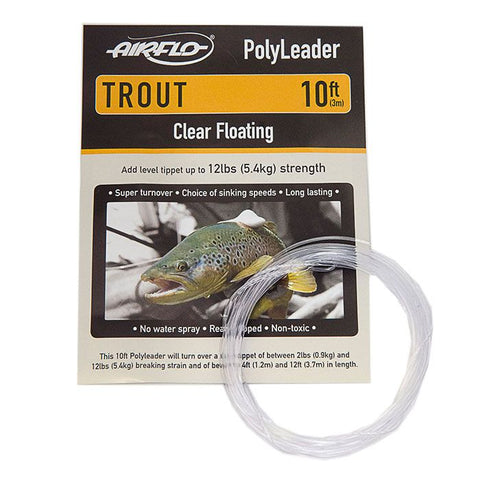AIRFLO TROUT POLYLEADERS - 10'