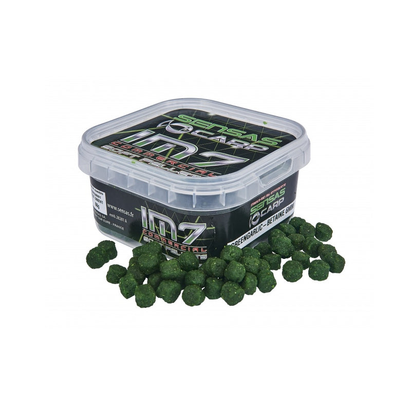 Sensas IM7 Soft Pellets Green Garlic Betanine 4mm 60g