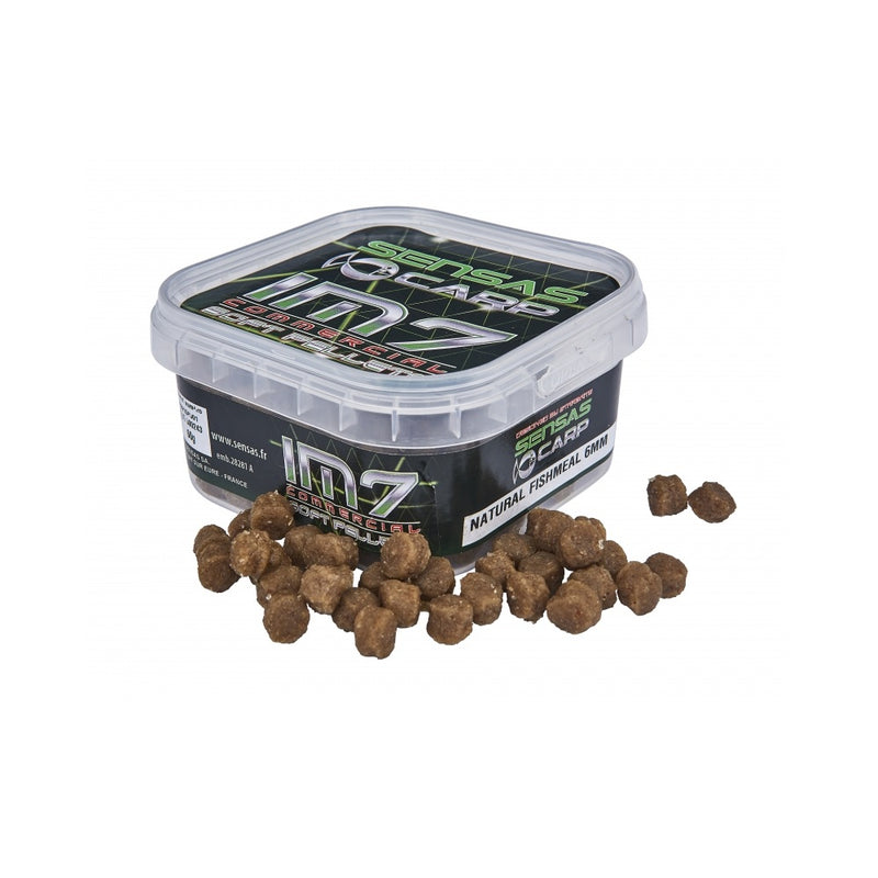 Sensas IM7 Soft Pellets Natural Fishmeal 6mm 60g