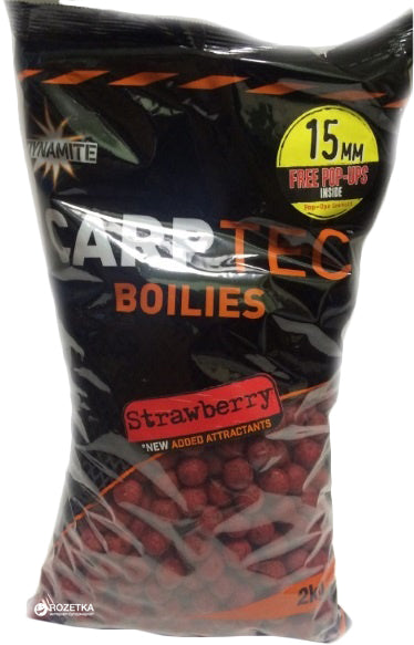 Dynamite Baits CarpTec Boilies 15mm Strawberry 2kg
