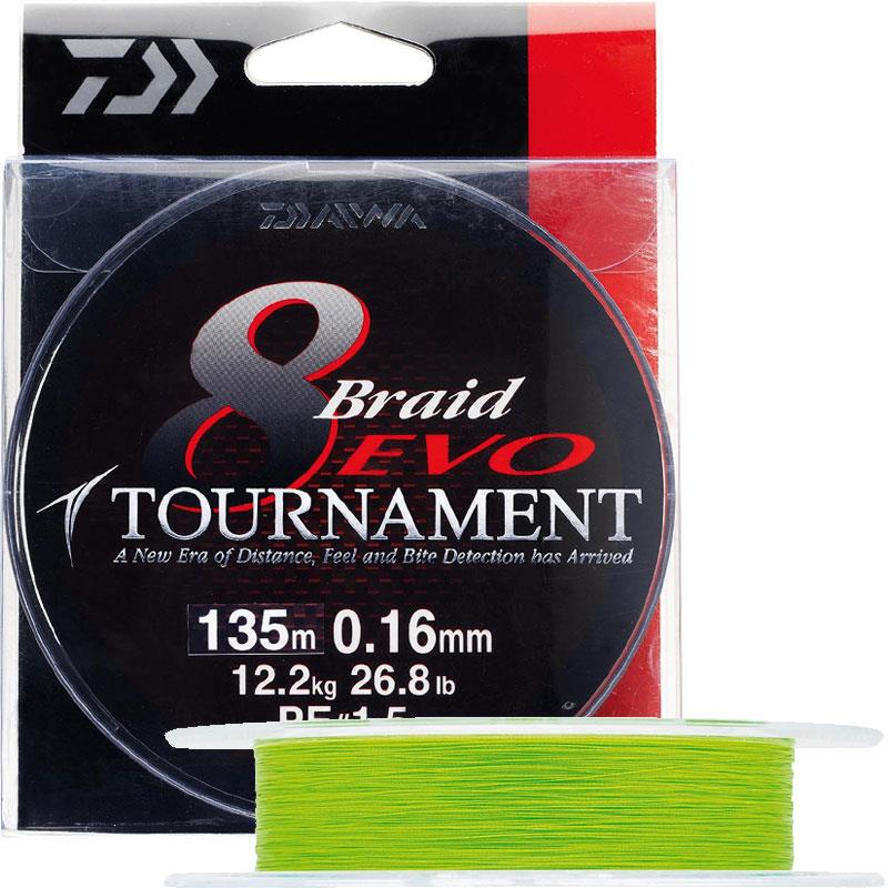 Daiwa Tournament 8 Braid Evo Chartreuse