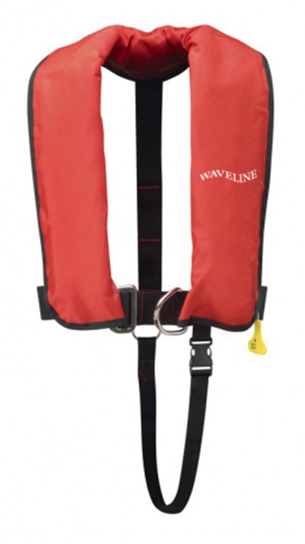 WAVELINE 165N ISO Red Auto Life Jacket With Crutch Strap