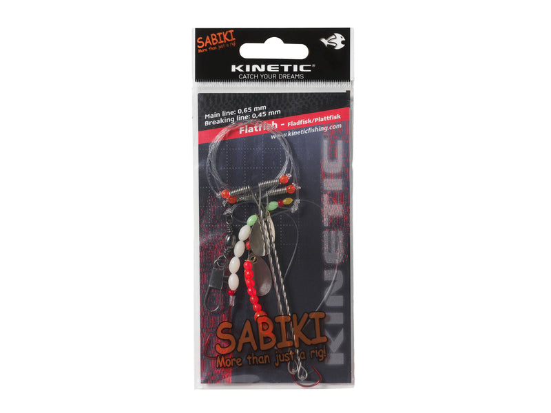 Kinetic Sabiki Flatfish System Red/White/Spinner