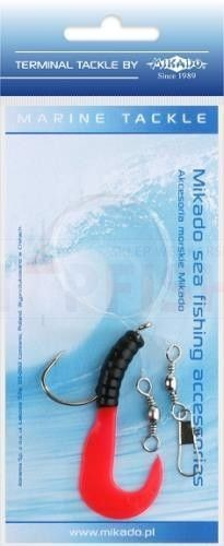 MIKADO PILK TWIST RIG 5.5cm - hook 4/0 (BLACK/RED)