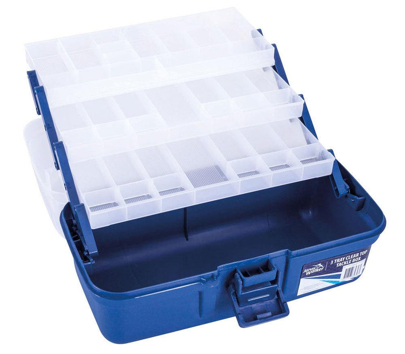 Jarvis Walker Tackle Box 3 tray Blue/Clear