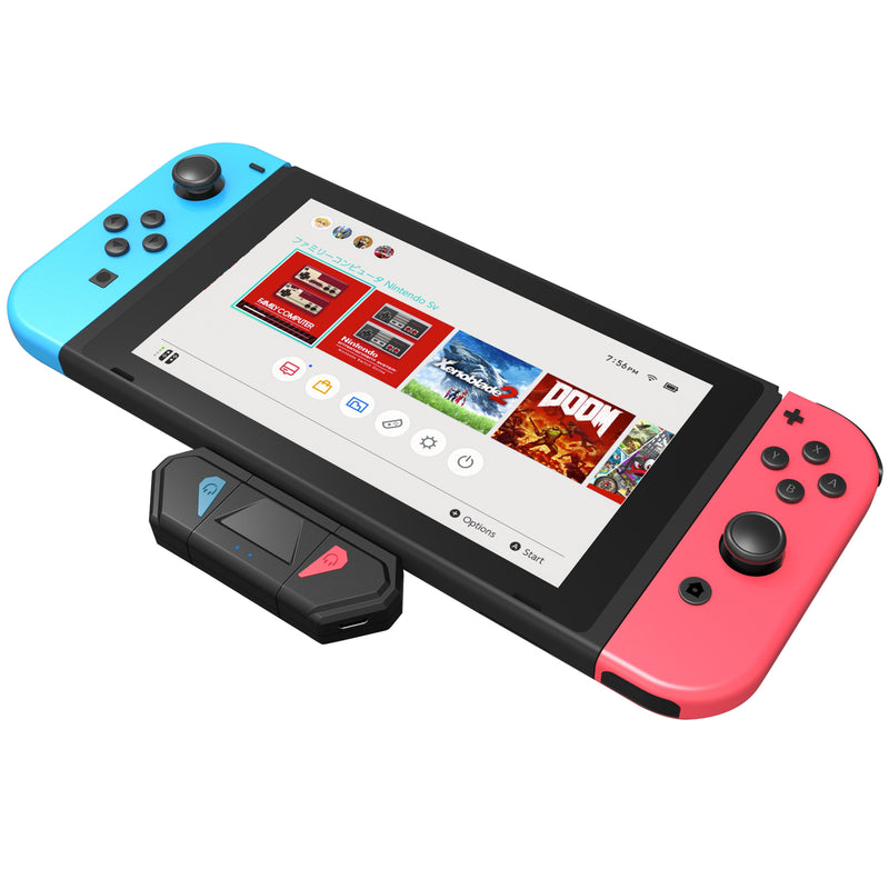Nintendo Switch Bluetooth 5.0 Audio Transmitter and Portable Dock w/ Digital Mic AptX, USB Type-C Charging Port & HDMI Output - Game Gear