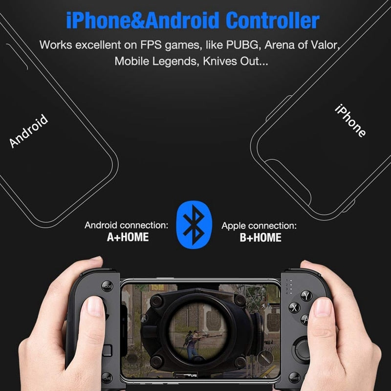 Wireless Mobile Game Controller for Android & iPhone w/ Key Mapping - Game Gear
